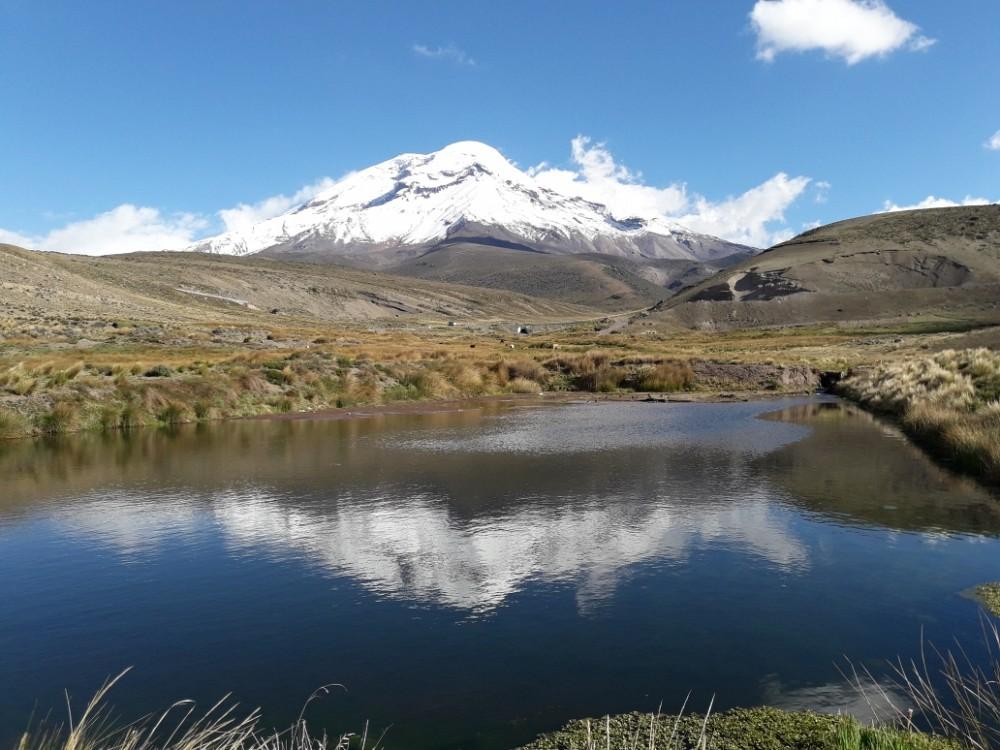 L'imposante carrure du Chimborazo nous accompagne durant toute la journée