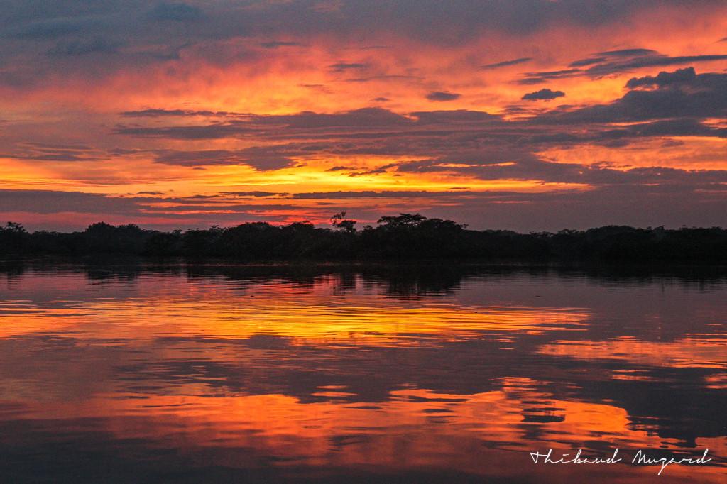 Coucher de soleil Lago Grande