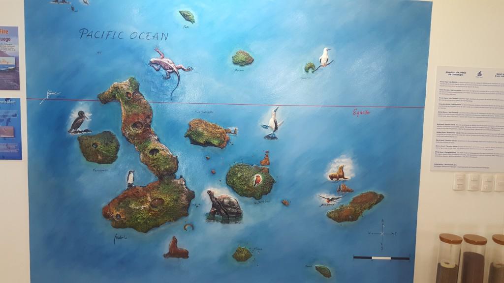 mapa galapgos